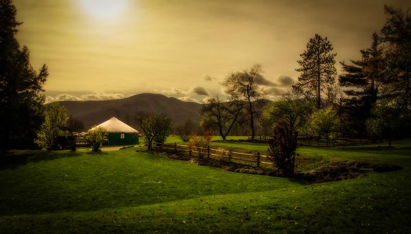 Yurt in Stowe, VT