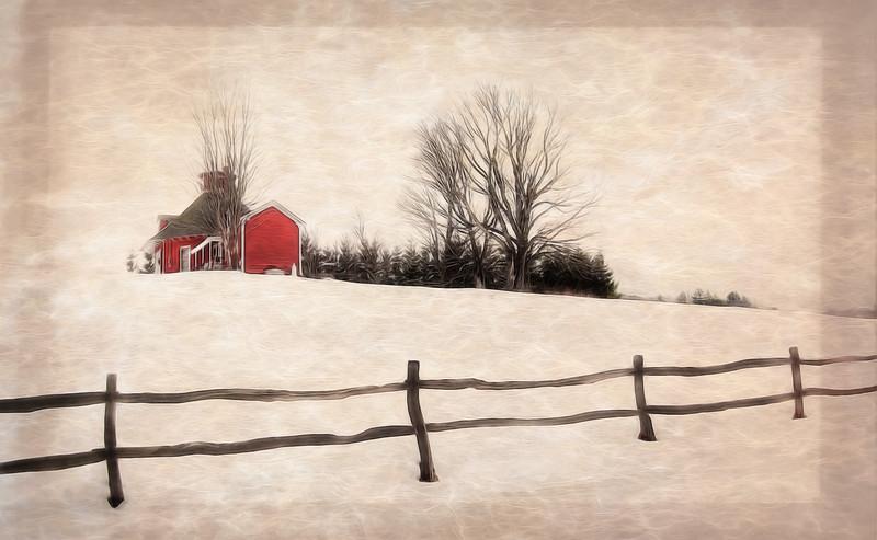 Snowy Scene Near Mount Snow, VT
