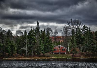 Vermont Cabin in Autumn