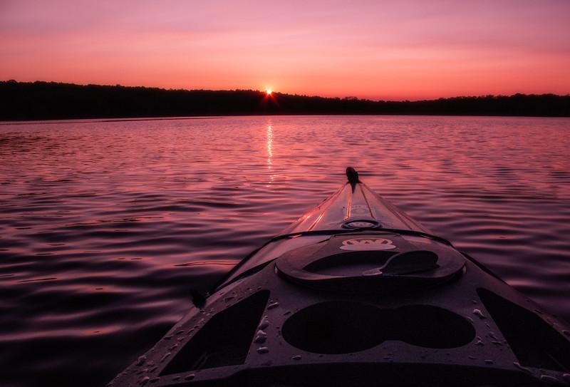 Kayaking on a CT Lake