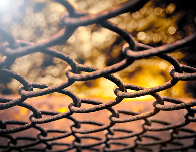 Fence with sun flare at Pachaug Pond - Griswold, CT