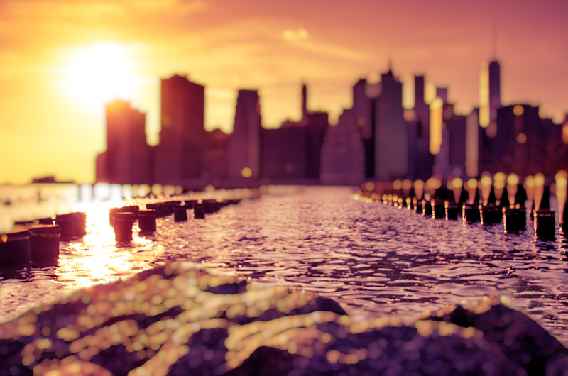 NYC Skyline at Sunset