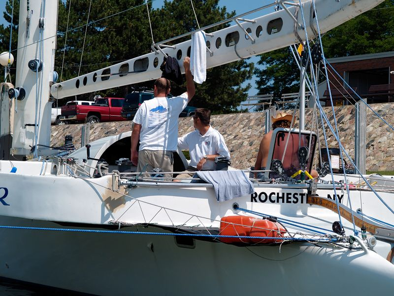 <font size=3>This boat has really become a favorite of mine.  Making its home in Rochester, NY, the Earth Voyager is literally the fastest boat on the Great Lakes.  They not only beat their previous record for the finish, they actually set the fastest time ever - 253NM in 21:00:30.</font>