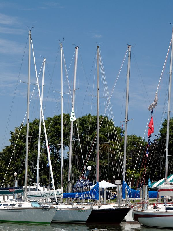 <font size=3>Another view of the competitors tied up at the City Marina.</font>