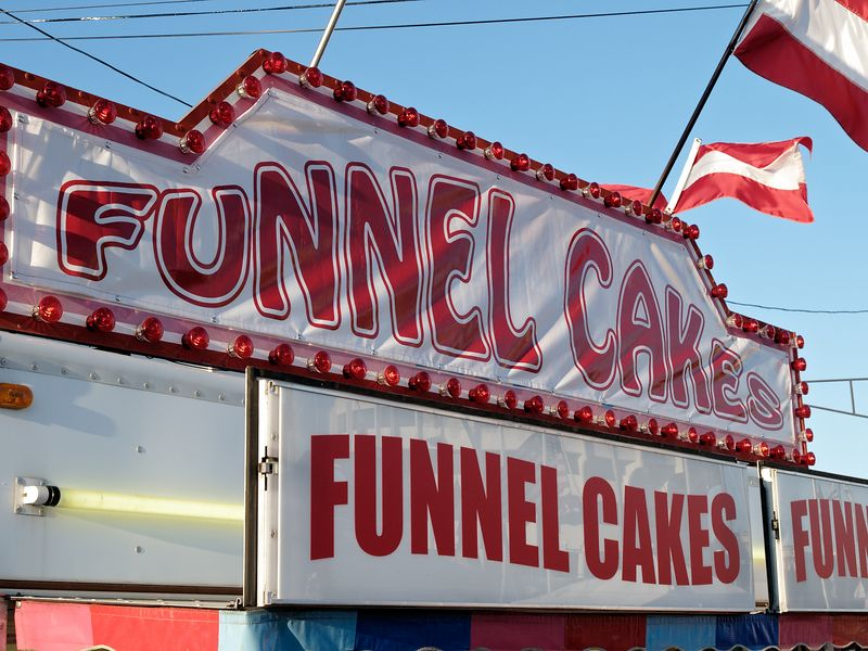 <font size=3>The perfect combination of batter, grease, and powdered suger - the funnel cake.  Good eatin'!</font>