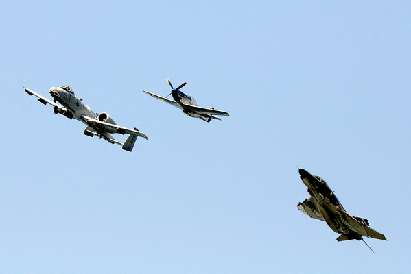 Heritage Flight - Cleveland Air Show 2011