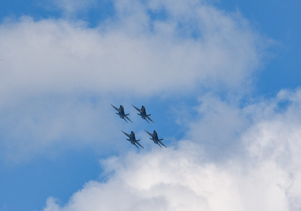 Saturday's Air Show from Edgewater Park