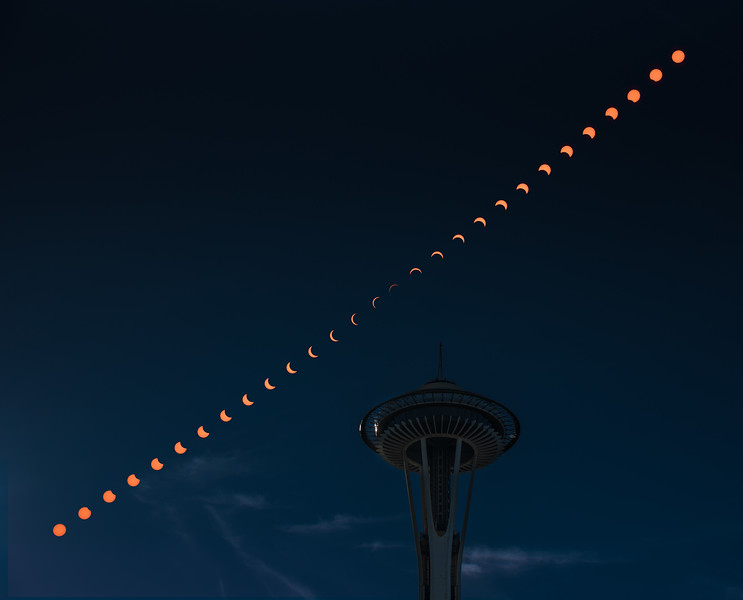 Solar Eclipse and Space Needle