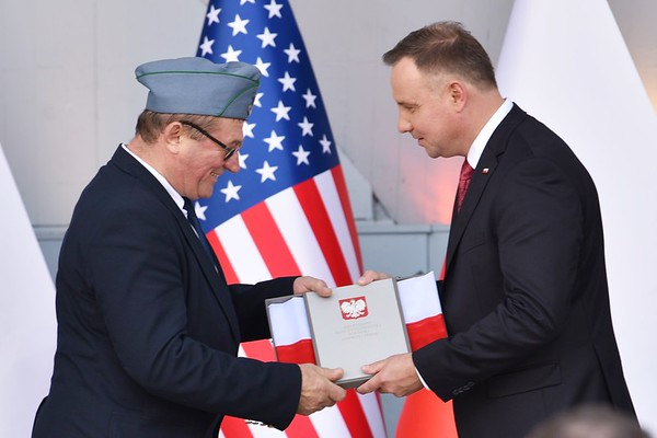 Polish President Andrzej Duda and First Lady Agata Kornhauser-Duda visited New Britain; Connecticut at New Britain's Walnut Hill Park