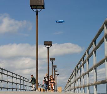 Blimp over the Edgewater Pier