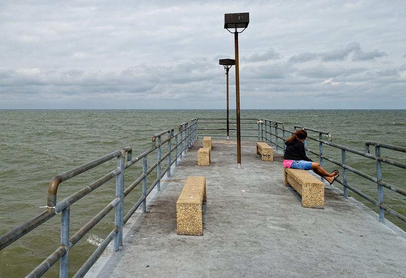Girl on Pier