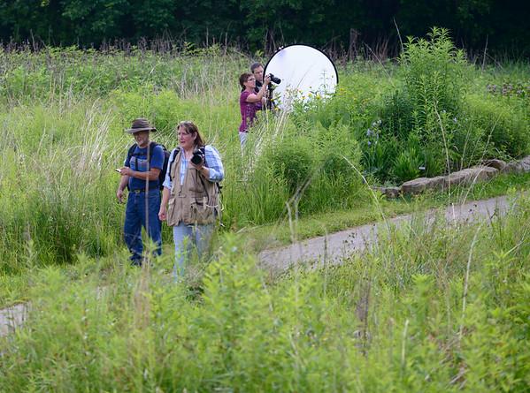 Photographers at the Brecksville Prairie