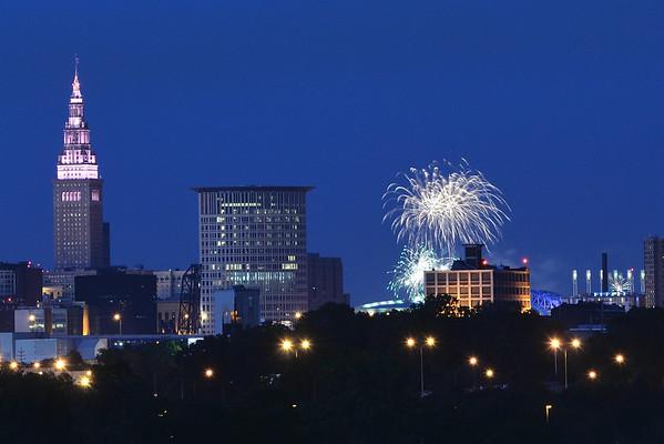 Fireworks at Progressive Field - Cleveland Ohio