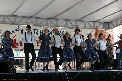 Cane Creek Cloggers!   -- a Carrboro July 4th tradition for many years!
