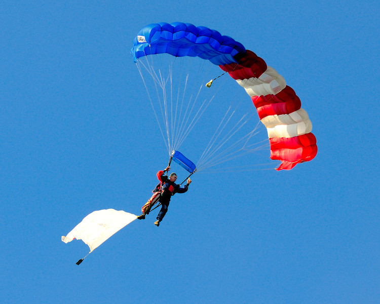 Skydiver at the Balloon Classic Invitational 2011