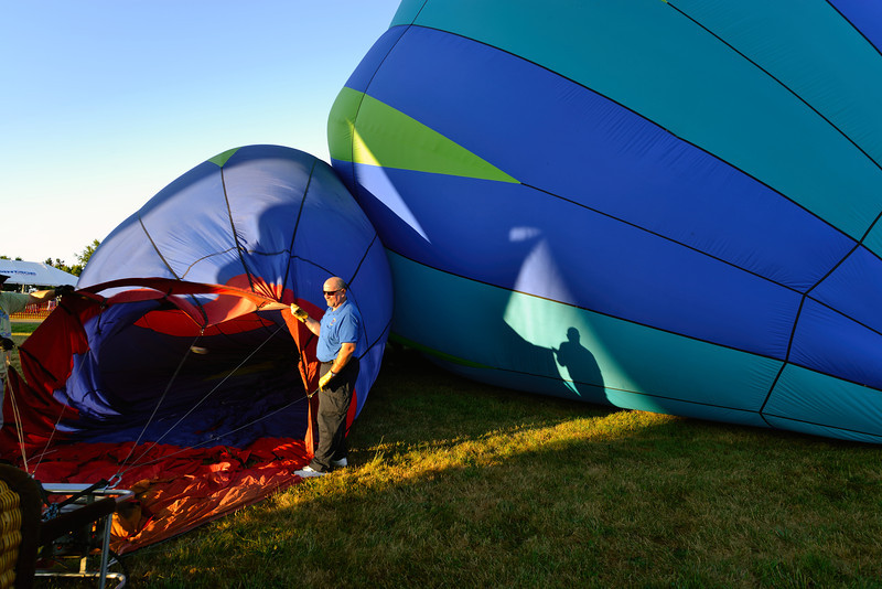 Rick and his Shadow at the Balloon Classic Invitational - Morning Launch