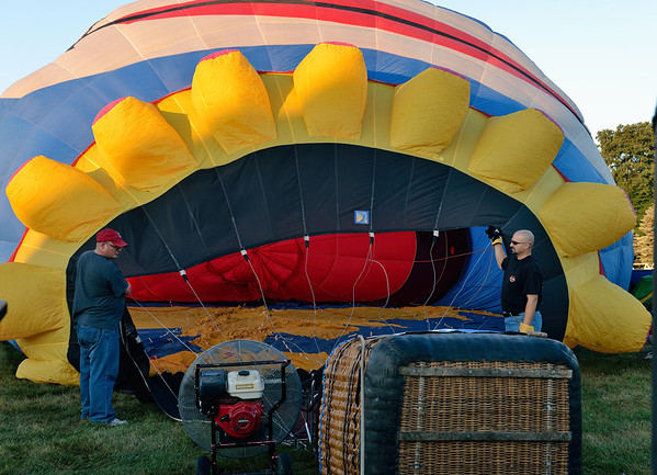 Inflating the Clown Balloon - Balloon Classic Invitational - Morning Launch