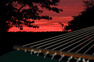 "View form the ""Lazy man's Hammock"" at sunset July 4th 2011"