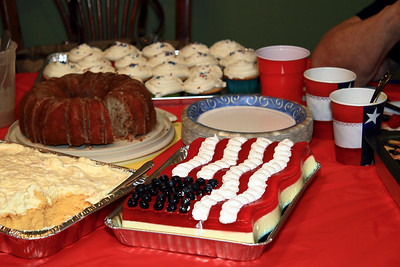 Dessert Table...quite a selection for Independence Day
