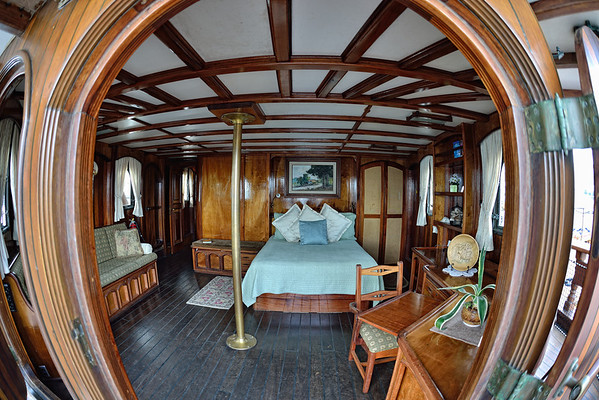 The bedroom on the Tall Ship Peacemaker