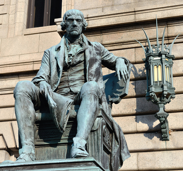 Thomas Jefferson in front of Cleveland City Hall