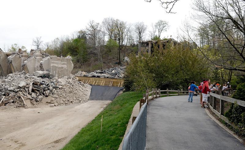Demolished Fulton Road Bridge taken in the Northern Trek area near the Tigers