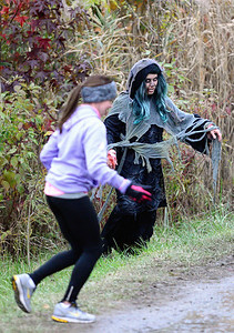Zombie chases a runner