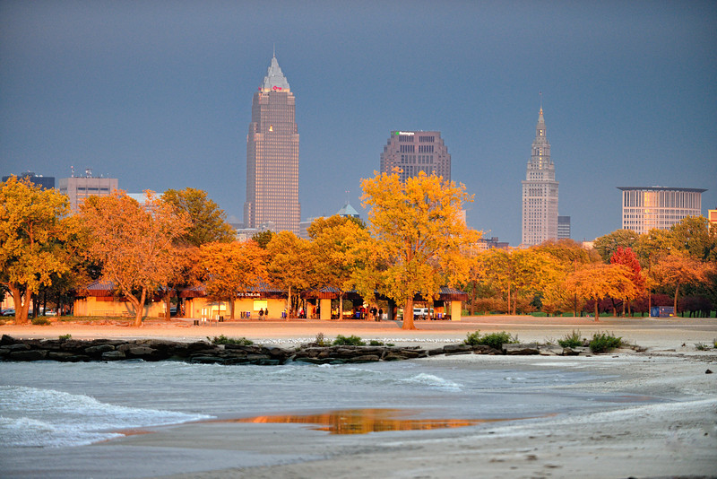 Cleveland at Sunset