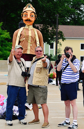 CPS Photographers at Parade the Circle, the best looking guy in the photo is the puppet!!! LOL