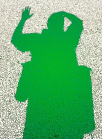 My Shadow at the Saint Patrick's Day Parade 2012