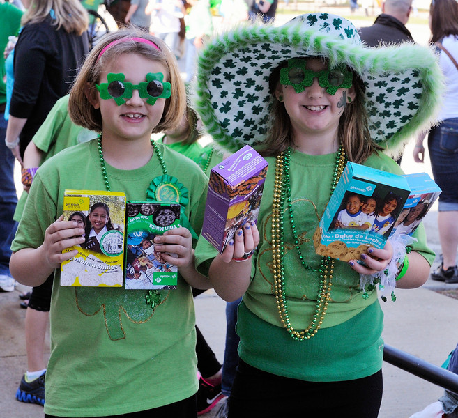 Girl Scouts at the Saint Patrick's Day Parade 2012
