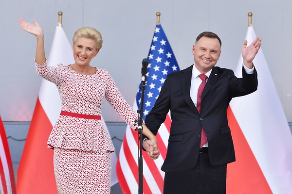 President of the Republic of Poland Andrzej Duda and First Lady Agata Kornhauser-Duda