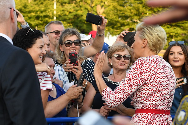Polish President Andrzej Duda and First Lady Agata Kornhauser Duda visited New Britain; Connecticut at New Britain Walnut Hill Park