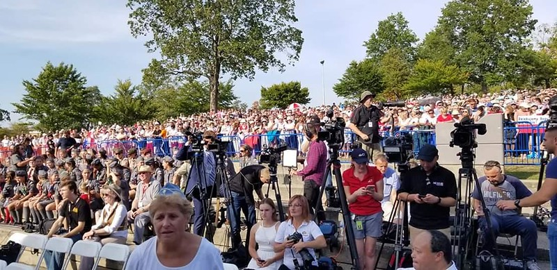 Waiting for president arrival - Thank for for opportunity sitting among the best photographers & most popular  TV News crews from Poland & US.