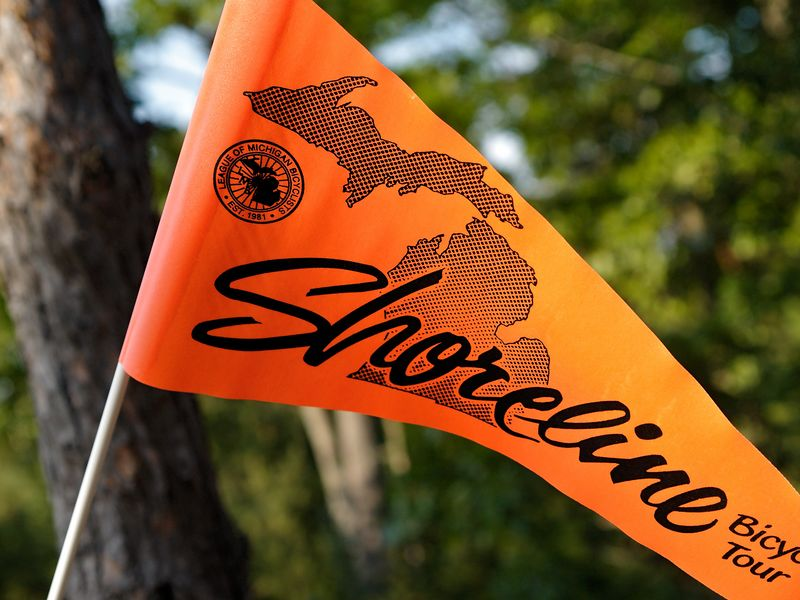 <font size=3>The official Shoreline flag that was found on the rear of each bike.</font>