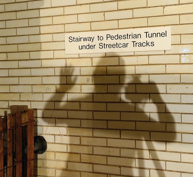 My Shadow at the Veterans Memorial Bridge