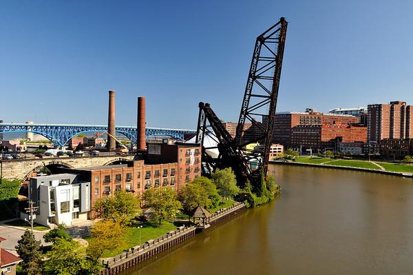 Cleveland Flats taken from the Veteran's Memorial Bridge