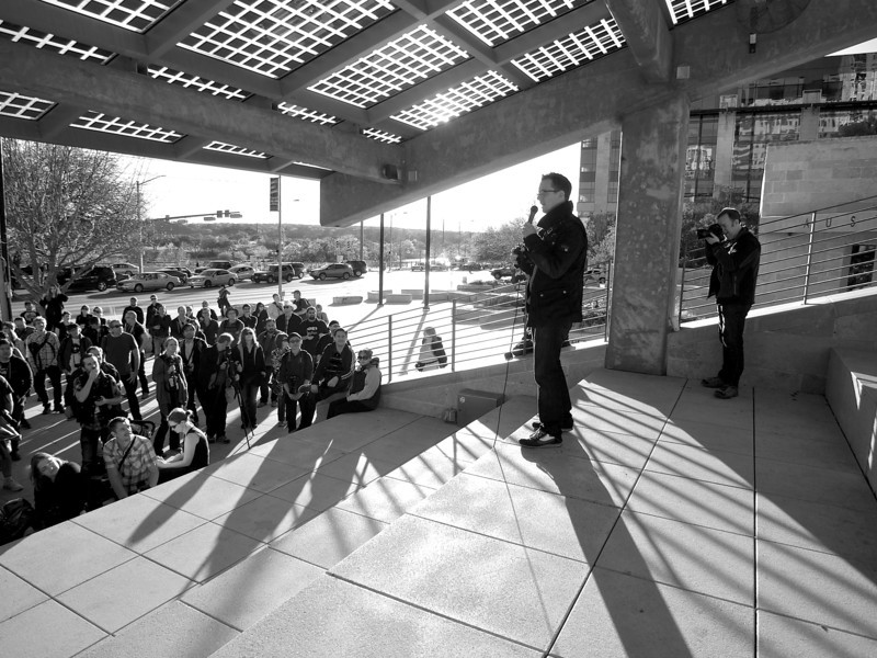 Trey Ratcliff addresses the Crowd, SXSW Photowalk - Austin, Texas
