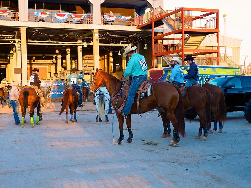 Cowboys Waiting, Rodeo Austin - Austin, Texas