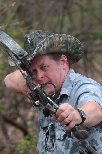 Rock star and 2nd Amendment activist Ted Nugent during an archery demonstration at LiveFreePA event in Manheim, April 25, 2009.