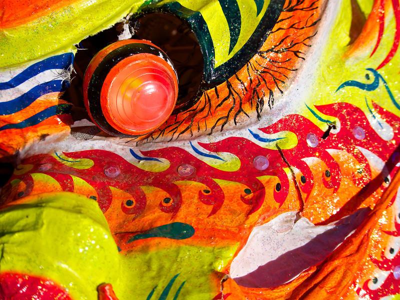 Lion Closeup, 2013 Chinese New Year Celebration - Austin, Texas