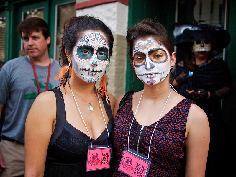 Regina and Mariana, Dia de los Muertos Parade - Austin, Texas
