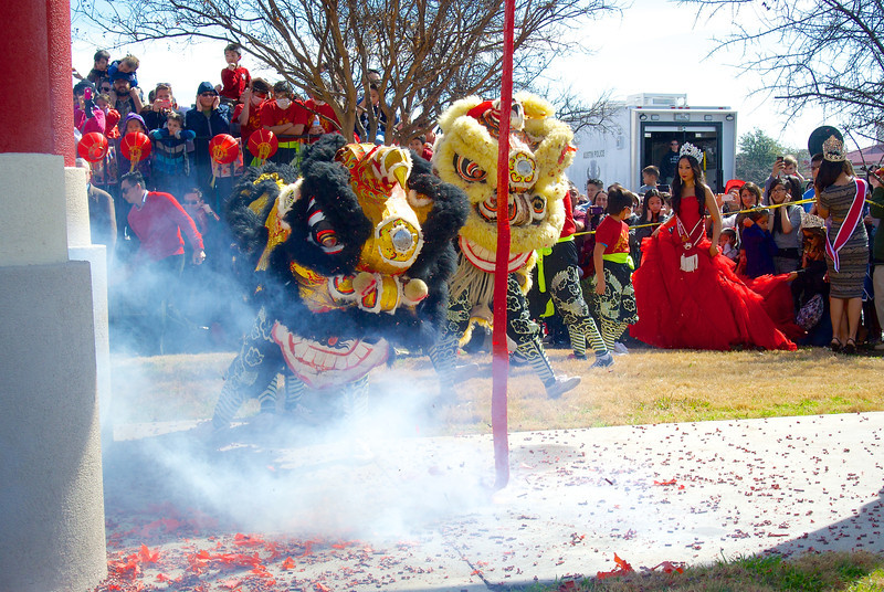Lion Dance #1, 2014 Chinese New Year Celebration - Austin, Texas
