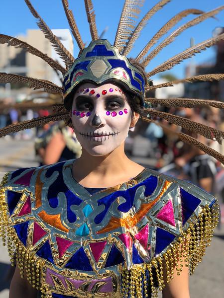 Sara, Dia de los Muertos - Austin, Texas (iPhone, before)