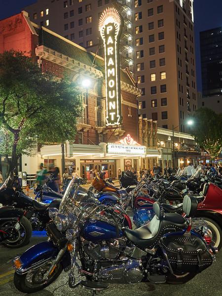 Harleys at the Paramount, ROT Rally - Austin, Texas