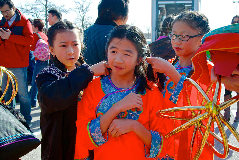 Hair Preparation, 2014 Chinese New Year Celebration - Austin, Texas