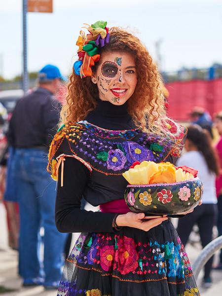 Candid Portrait, Dia de los Muertos Parade - Austin, Texas