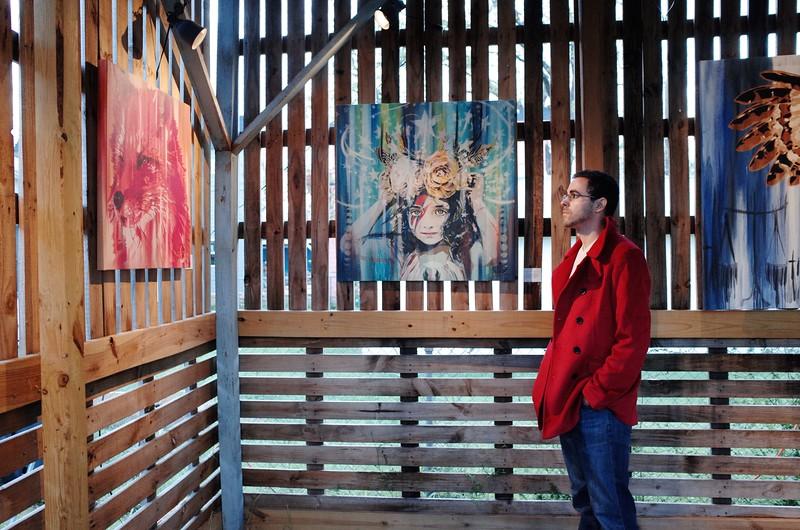 Viewing Niz Graphics, The Room Gallery - Austin, Texas