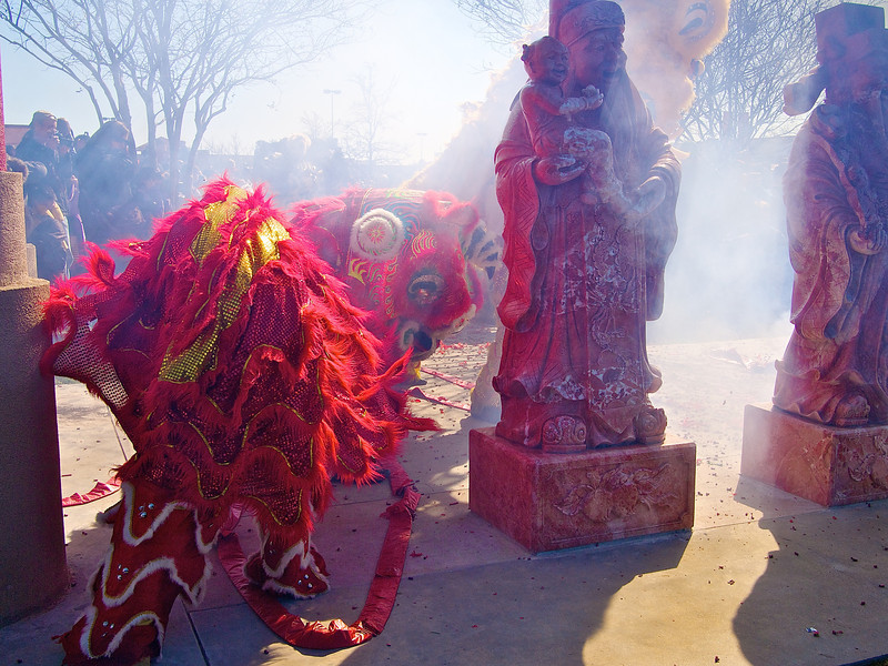 Lion Dance and Statues, 2012 Chinese New Year Celebration - Austin, Texas