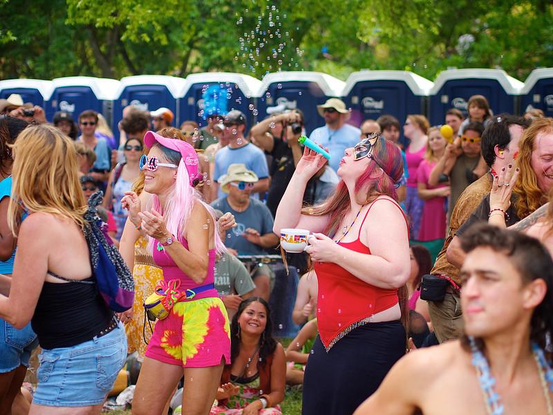 Blowing Bubbles, Eeyore's Birthday - Austin, Texas